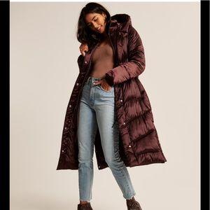 XXS petite bronze puffer jacket NWT